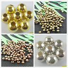 2-10mm Plated Round Ball Spacer Beads Gold, Silver,Copper,Bronze (Lead-free)