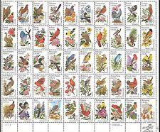 USA 1982 State Birds & Flowers/Wren/Robin/Pheasant/Finch/Pelican 50v sht n44358