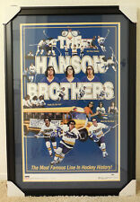 """HANSON BROTHERS Signed by all Three Framed """"Slapshot"""" Poster - (PSA/DNA) COA"""