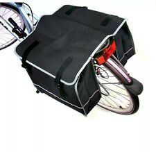 LARGE DOUBLE BIKE BICYCLE REAR RACK PANNIER BAG WATERPROOF CYCLE CARRIER NEW UK