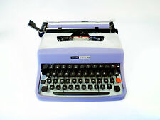 GREEN / SILVER OLIVETTI LETTERA 32 - Vintage Portable Manual Working Typewriter