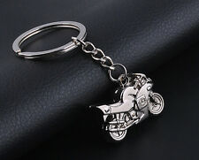 NEW Cute Fashion Motorcycle Key Ring Chain Motor Silver Keychain Lover Key Chain