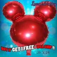 Big Red Minnie Mickey Mouse Head Birthday Party Balloon Disney baby shower boy