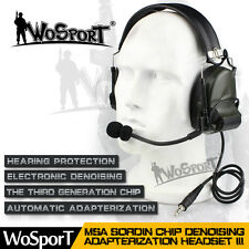 Z Tactical CS Comtac III 3 Sordin Combat Noise Protective Headset Airsoft Radio