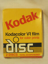 Kodak Kodacolor VR film color prints disc 2 discs 30 exposures *expired 1988 nip