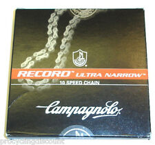 NEW 2017 Campagnolo RECORD ULTRA Narrow 10 Speed C10 Chain & HD Link: CN6-REX
