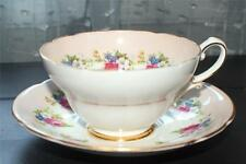 Vintage STANLEY Bone China England Mixed Flower Bouque Pattern Set Cup & Saucer