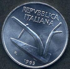 10 Lire 1965  da rotolino  FDC assoluto  sig./periz.ta