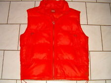 *~* HUGO BOSS ~ Daunen Weste ~ Winterjacke ~ Top ~ GR. 52 ~ L ~ Orange glänzend