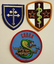 Lot 3: US Army Medical Cloth Patches