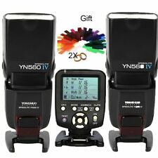 YONGNUO 2x YN-560IV Wireless Flash Speedlite+YN560-TX trigger for NIKON