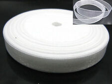 "50 Yards 1/2"" (12mm) White Wedding Crafts Sheer Organza Ribbon"