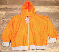 NEW Womens MEDIUM Adidas Stella McCartney Orange Run Image Jacket F95516