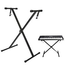 "Black Keyboard Piano ""X"" Stand Electric Organ Rack Metal Height Adjustable HOT"