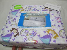 New Happiness By Design Twin Sheet Set DRAGON PRINCESS - Fairies Dragons Purple