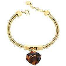 Original OPS Armband LUX MARBLE Damen Gold Braun - OPSBR-363