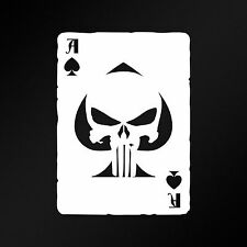 Ace Of Spades Old Playing Card Punisher Skull Car Laptop Vinyl Decal Sticker