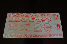 Giant Stickers White, Orange & Silver.  XTC SE1