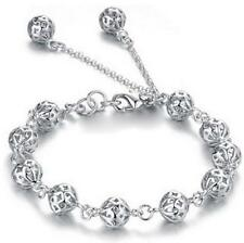 Women's 925 Silver Filled Ball Chain Bracelet Fashion Jewelry Party Gift