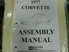1977 CORVETTE (ALL MODELS) ASSEMBLY MANUAL