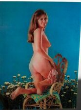 Nude Kneeling on Chair- Shirt on/off -Animated Lenticular Postcard- Pre 1970s