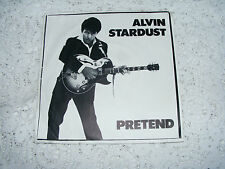 "Alvin  Stardust    Pretend   /   Goose Bumps   1981   7""  Vinyl   Single  Record"