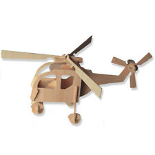 3-D Wooden Puzzle - Small Helicopter Gift Item Brand New-DCHI-WPZ-P001