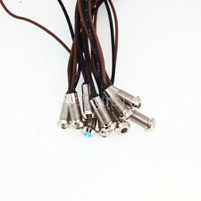 10pcs 6mm 12V blue LED Metal Indicator Pilot Dash Light Lamp With Wire Leads