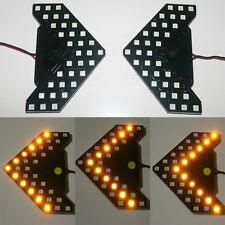 2pc WarmWhite 33SMD Sequential LED Arrows for Car Side Mirror Turn Signal Lights