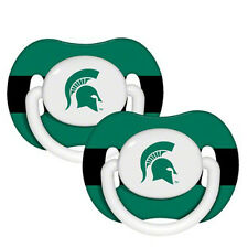 NCAA Michigan State Spartans Orthodontic Pacifiers Infant Baby Fanatic 2 Piece