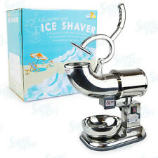 WYZworks Commercial Heavy Duty 440lb/h Snow Cone Ice Shaver Shaved Icee Machine
