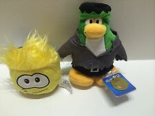 DISNEY CLUB PENGUIN SERIES 1 LIMITED EDITION FRANKENPENGUIN & YELLOW PUFFLE