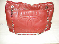 100% AUTHENTIC NEW CHANEL CAMBON QUILT RED SHOULDER BAG/HANDBAG/PURSE/TOTE