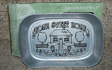 Home Sweet Home Bread Tray Plate Metal Home Decor Kitchen NIB Wilton Armetale