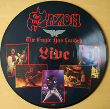 SAXON: THE EAGLE HAS LANDED LIVE VINYL LP PIC PICTURE DISC CAL 137