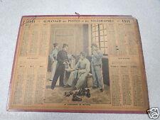 ALMANACH PTT calendrier des postes 1911 le cordonnier de batterie HESNAU *