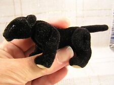 "World of Miniature PANTHER - 3.5"" Mini CAT BLACK Wild Leopard"