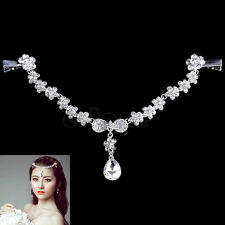 Crystal Frontlet Forehead Head Chain Wedding Bridal Jewelry Drape Headpiece