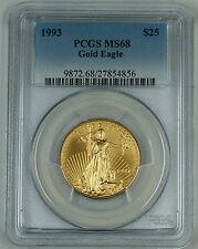 1993 1/2 oz. Gold Eagle $25, PCGS MS-68, Gold American Eagle, GEM Coin