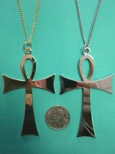 Vintage Large Ankh Life Cross Necklace Hippie Costume