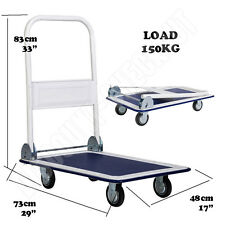 New Heavy Duty 150kg Folding Trolley Cart Platform Flat Hand Barrow Sack