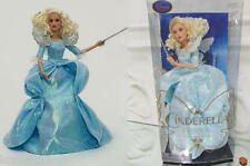 NEW Disney Store Cinderella FAIRY GODMOTHER Barbie DOLL w/ Wings Film Collection