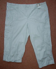 NEW Sz 18 Dove Grey Short Cargo Turn up Trousers Shorts Holiday Summer