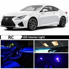 9x Blue LED Lights Interior Package for 2015 & UP LEXUS RC-350 F RC-F + TOOL