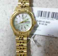 New CITIZEN Classic Gold-Tone Ladies' Watch EQ0142-50D Day& Date WR MOP.5YR.WRTY