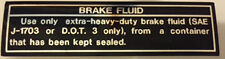 KAWASAKI Z1 Z1B H2C KH500 KH250 S3 BRAKE FLUID INFORMATION CAUTION WARNING DECAL