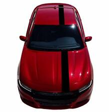 "Dodge CHARGER 8"" Single Offset 5D Glossy CARBON FIBER Vinyl Racing Stripes Decal"