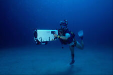 634076 Diver With Underwater Video Camera Italy A4 Photo Print