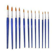 12pc ARTIST BRUSH SET ASSORTED PAINT BRUSHES HOBBY MODELS CRAFT PAINTING ART