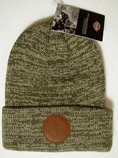 Dickies Men's Skull Watch Cap Winter Hat Rolled Cuff Double Layered Marled Olive